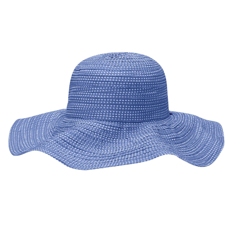 Wallaroo Hat Company Women's Scrunchie Sun Hat - Hydrangea/White Dots - UPF 50+, Ultra-Lightweight, Packable for Every Day, Designed in Australia. by Wallaroo Hat Company (Image #2)