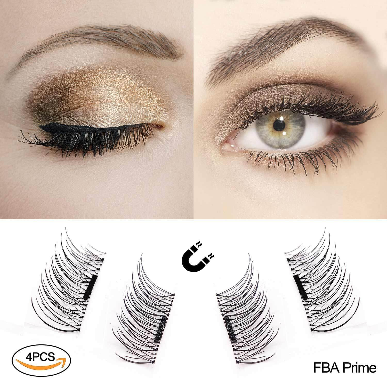f5379722d91 Amazon.com : Magnetic False Eyelashes by Fstyle, Reusable Fake Eyelashes  Natural Look, Eye lashes Extension Ultra Thin Fiber No Glue Allergy,  Cruelty Free, ...