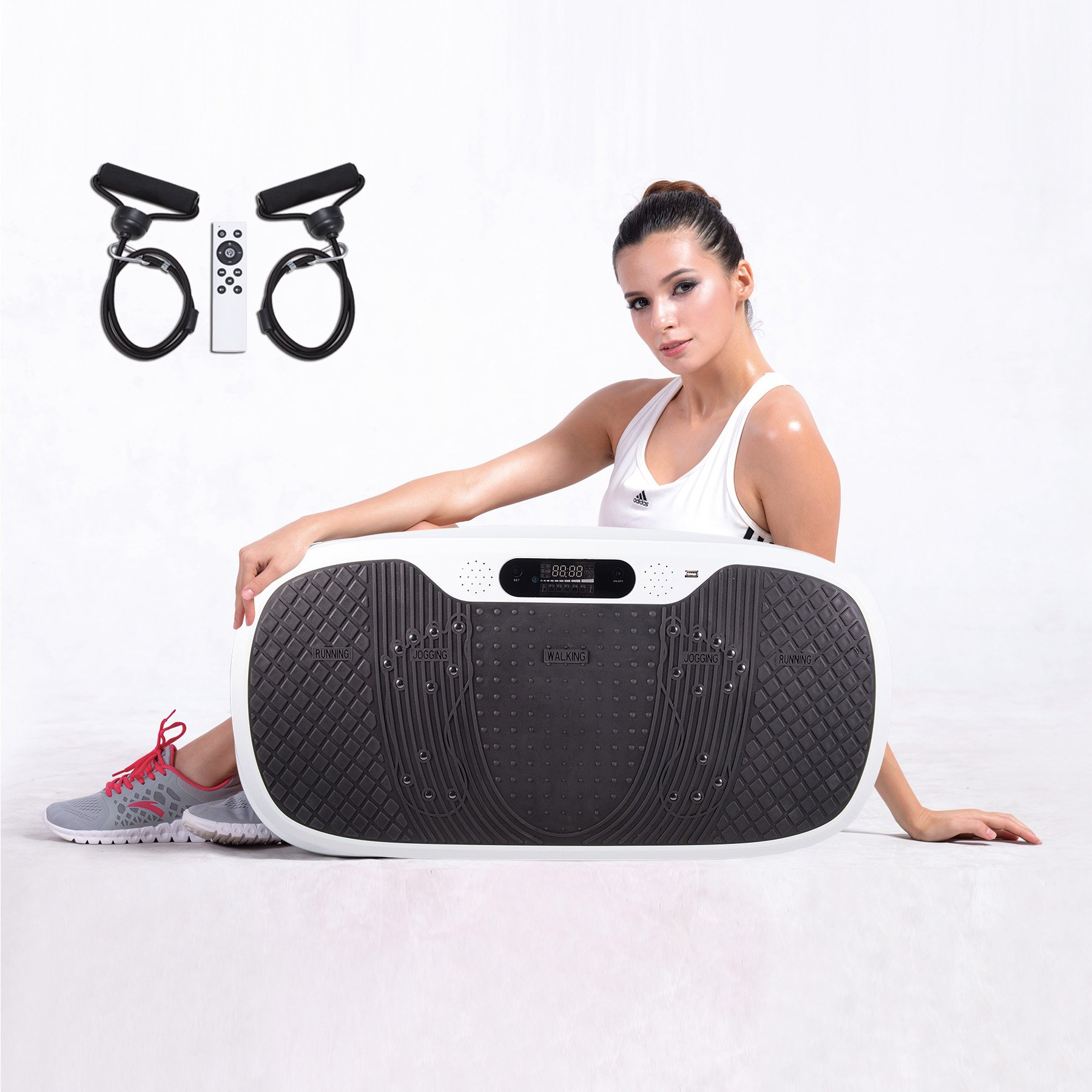 Pinty Full Body Vibration Platform Fitness Vibration Machine with MP3 Player & 3 Standing Positions by Pinty
