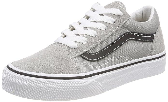 Vans Old Skool Sneaker Unisex-Kinder Grau Schwarz