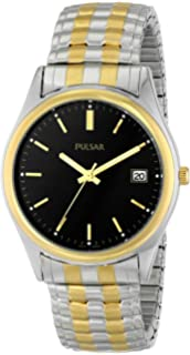 Pulsar Mens PXH428 Expansion Two-Tone Stainless Steel Watch