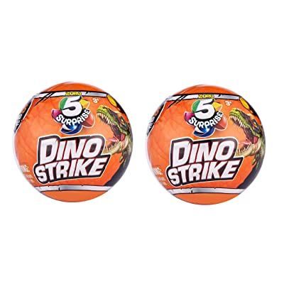 ZURU 5 Surprise Dino Strike Mystery Capsule Collectible Toy (2 Pack): Toys & Games