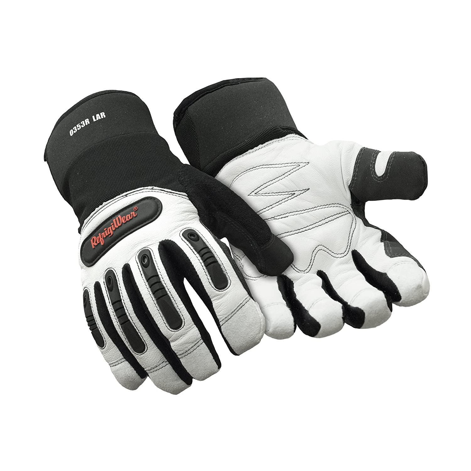 RefrigiWear Fiberfill Insulated Tricot Lined Ergo Goatskin Leather Gloves