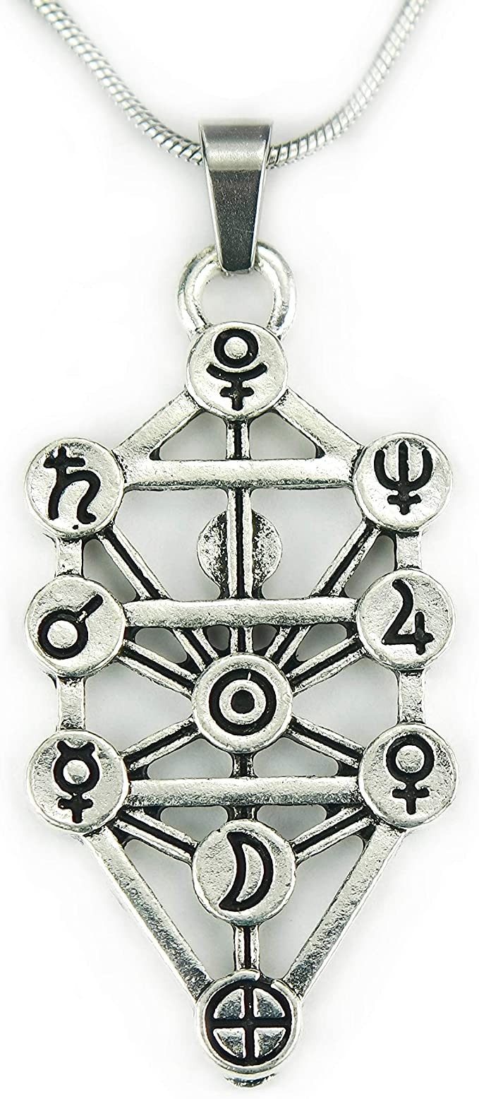 Amazon Com Sephiroth With Zodiac Necklace 20 Chain Astrology Kabbalah Tree Of Life Sephirot Antiqued Silver Zinc Alloy Pendant On Pure 304 Stainless Steel Snake Chain 20 50 8cm Clothing Much has been written about the kabbalistic symbolism in evangelion, but i have found that director anno's messages run deeper than that. amazon com