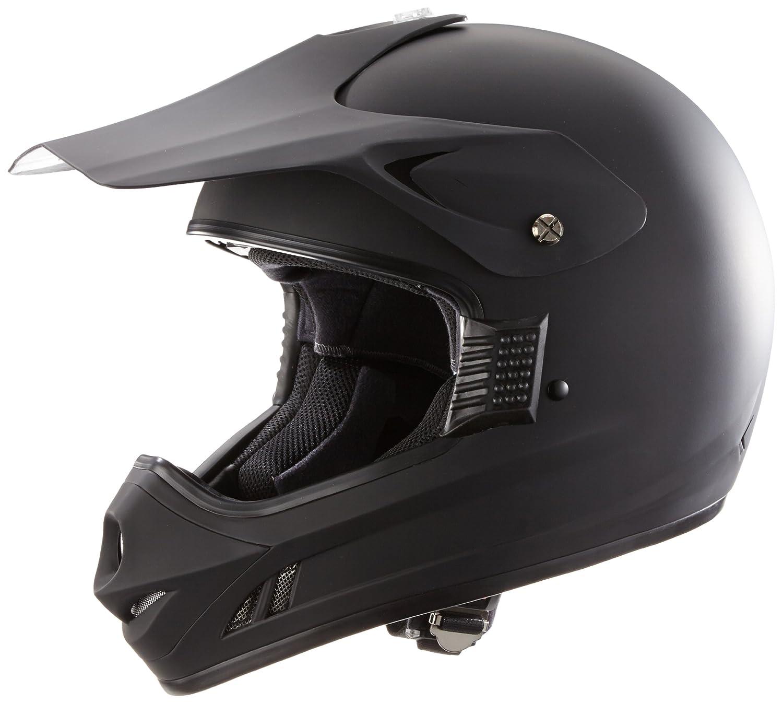 Protectwear Casco moto Croce, casco Enduro, casco pianura nero opaco (momocromatico) H610-MS, Taglia L H610-MS-L