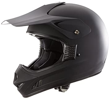 Protectwear Casco de motocross / Enduro llano negro mate H610-MS, tamaño M