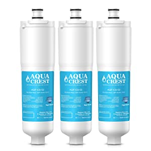 AQUACREST Replacement CS-52 Refrigerator Water Filter, Compatible with 3M Cuno CS-52, CS-51 (Pack of 3)