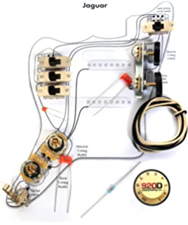 fender vintage '62 jaguar wiring kit - pots switch slider caps bracket  diagram