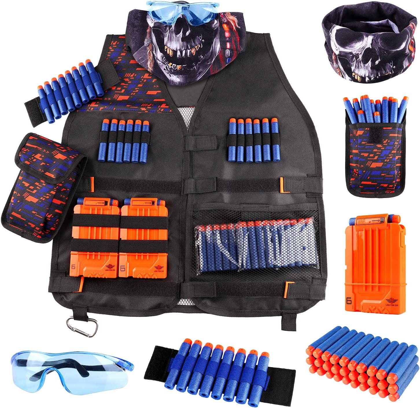 UWANTME Kids Tactical Vest Kit for Nerf 38% OFF £13.59 @ Amazon