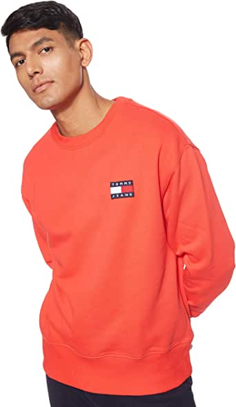 Tommy Hilfiger Tjm Tommy Badge Crew Erkek Sweatshirt