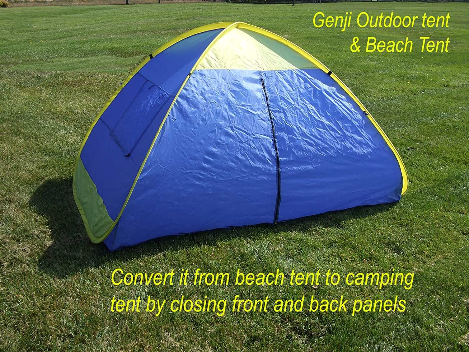 Amazon.com  Genji Sports Instant Outdoor and Beach Tent Blue/Yellow Trims One Size  Sports u0026 Outdoors & Amazon.com : Genji Sports Instant Outdoor and Beach Tent Blue ...