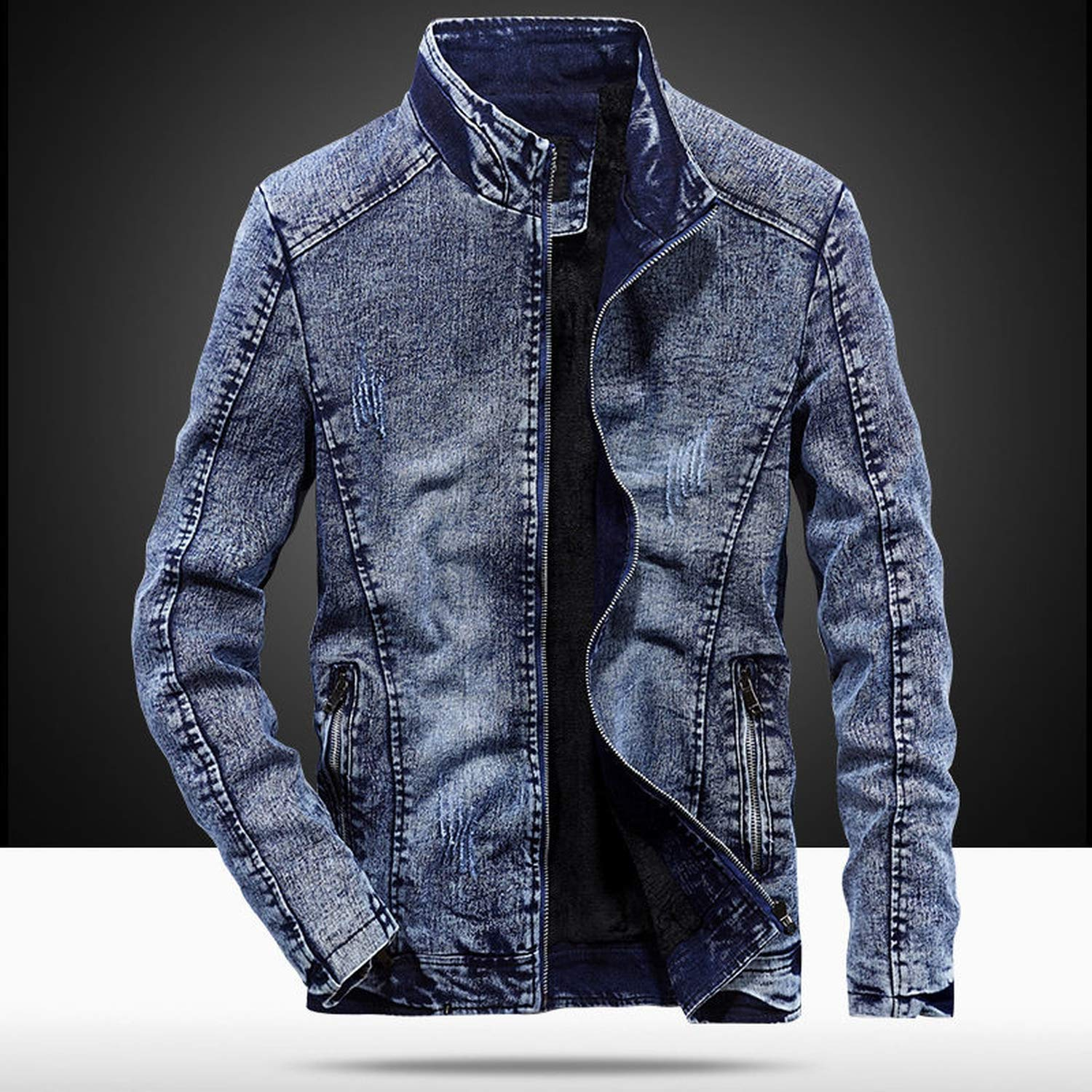 Mens Winter Jean Jackets Vintage Chaqueta Hombre Slim Fit ...