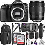 Canon EOS 80D DSLR Camera with EF-S 18-135mm f/3.5-5.6 IS USM Lens w/ Advanced Photo and Travel Bundle