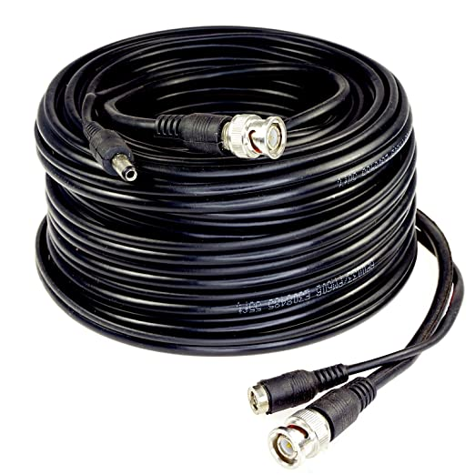 Amazon.com : Five Star Cable RG59 100ft siamese combo cable for TVI, CVI, AHD and HD-SDI camera system Professional Grade with BNC connectors and 2.1mm ...