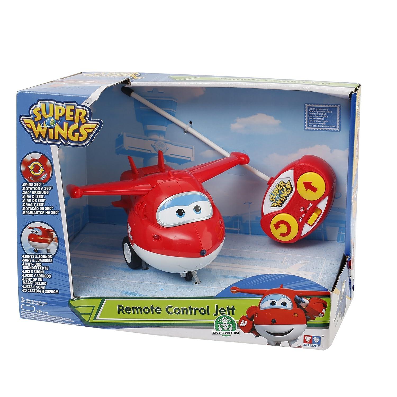 Molto famoso dalla Pubblicità di Cartoonito e Rai YoYo: Giochi Preziosi - Super Wings Personaggio Jett, Veicolo Giocattolo con Radiocomando