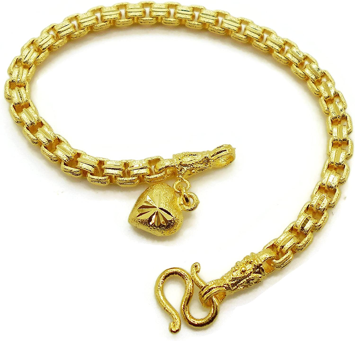 New Pure 18K Yellow Gold DIY Weave Bracelet Or Necklace 4mm Loose Bead