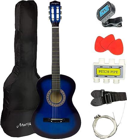 Martin Smith - Guitarra acústica, azul: Amazon.es: Instrumentos ...