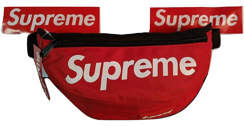 656ece9fe96 Supreme Fanny Bag Pack Waist Shoulder Style Classic Box Logo (Red):  Amazon.co.uk: Clothing