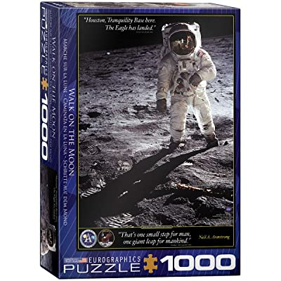 EuroGraphics Walk on The Moon Puzzle (1000-Piece): Toys & Games
