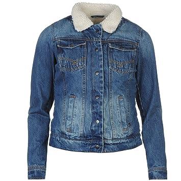 b6a58a87e9876 Firetrap Sherpa Lined Denim Jacket Womens Blue Jacket Coats Outerwear UK 16  (XLarge)