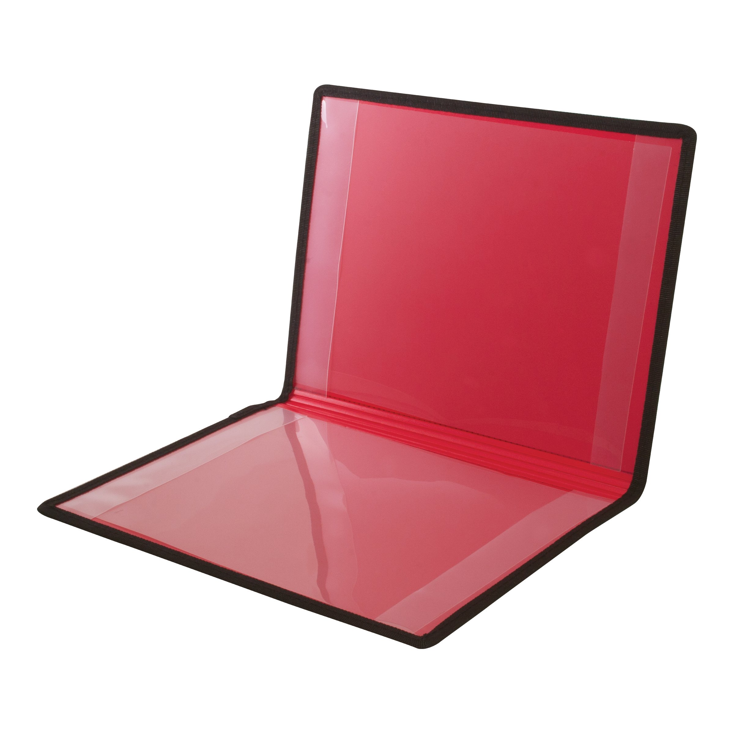 Advantus Certificate Holder, Black with Red Lining, Dual Pockets, 9 x 12 Inches (ANG204)