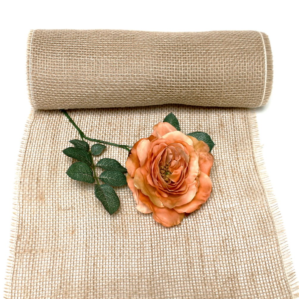 Tgg Jute Chemin De Table Naturel Largeur 30 Cm 10 M Amazon Fr