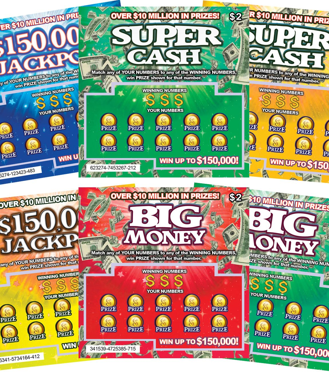FMPLT- Fake Lottery Tickets Scratch off - ALL Win $50,000 - The Ultimate Prank