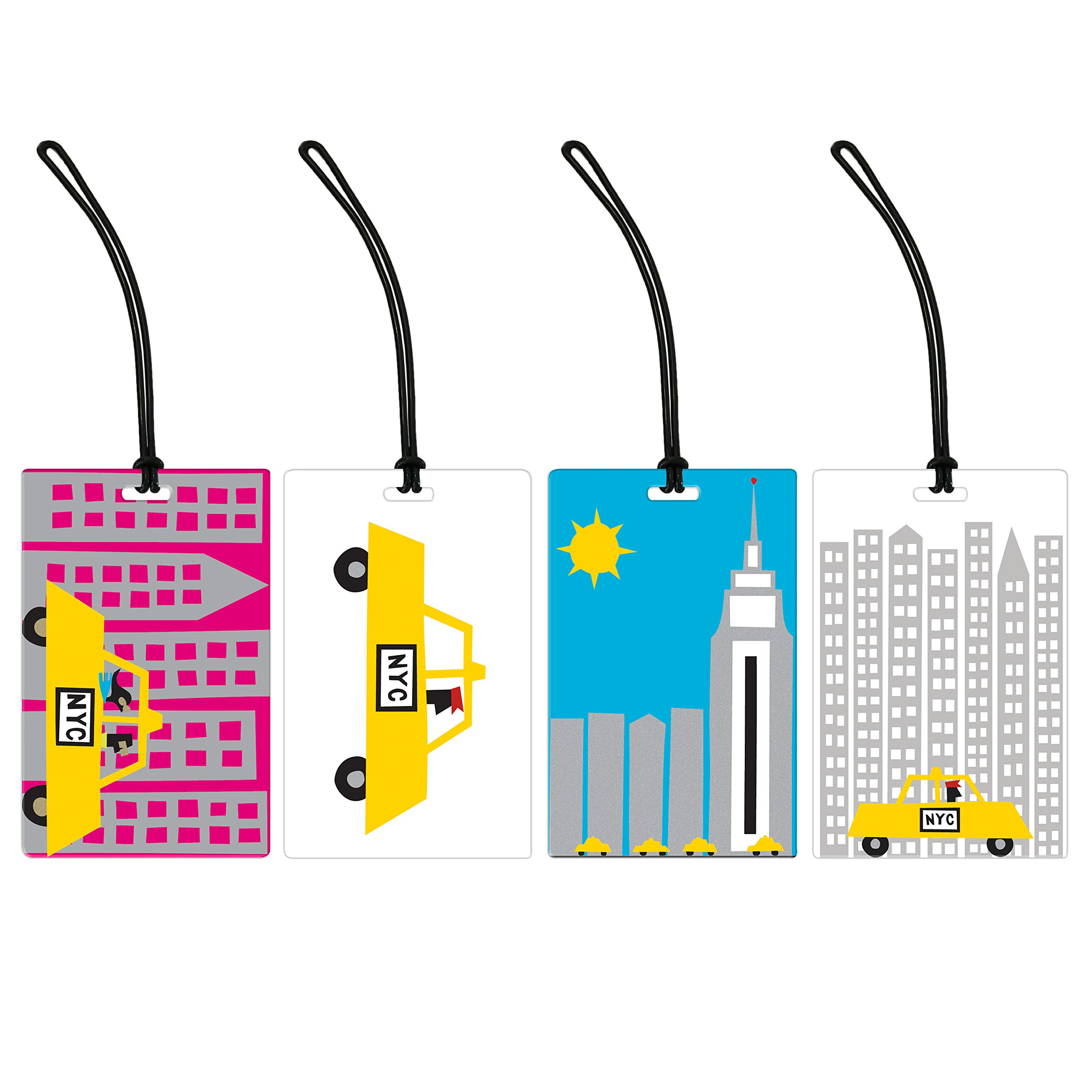 I Love New York 4 Piece Luggage Tag Set