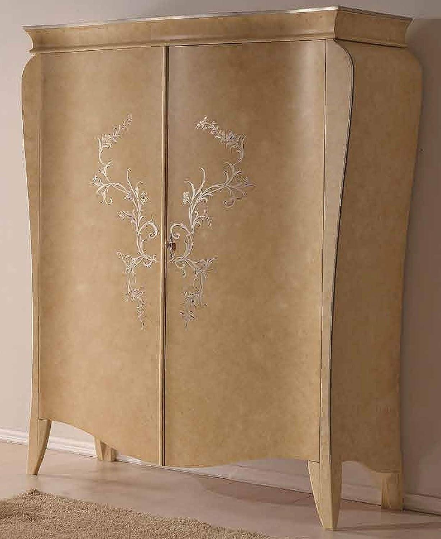 Dafnedesign.Com - Armario de 2 puertas correderas lacado, diseño de hoja plateada (cm L 164 cm. Altura: 210 - P. 65) (TVG): Amazon.es: Hogar