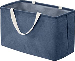 AmazonBasics Fabric Storage Bin - Large Rectangle, Navy Blue