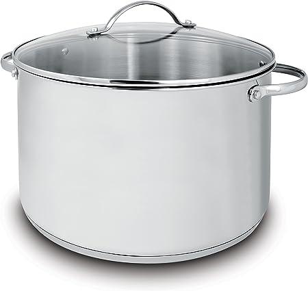 Cuisinox POT-DE28 Deluxe Covered Stock Pot, 10.4-Liter