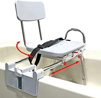 storage back w slide and transport arm transfer legs tfr travel has adjustable tub seat for rotate bench removable easy