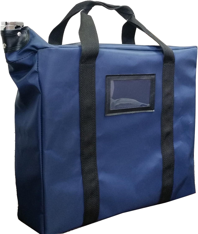Briefcase Style Locking Document Bag (Navy)
