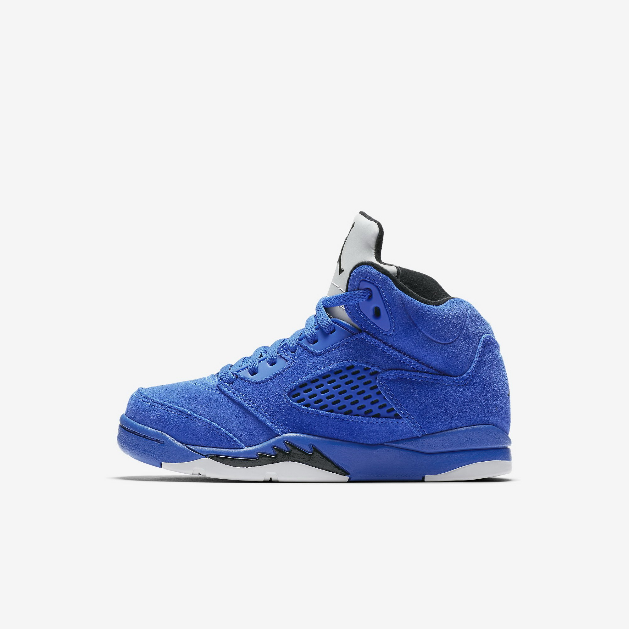 Jordan Little Kids Retro 5 Blue Suede Sneaker by Jordan