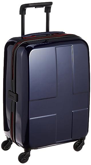 8118c17f55 [イノベーター] スーツケース ハードキャリー ジッパー 38L 2.7kg ネームタグ付き ポーチ付き トート