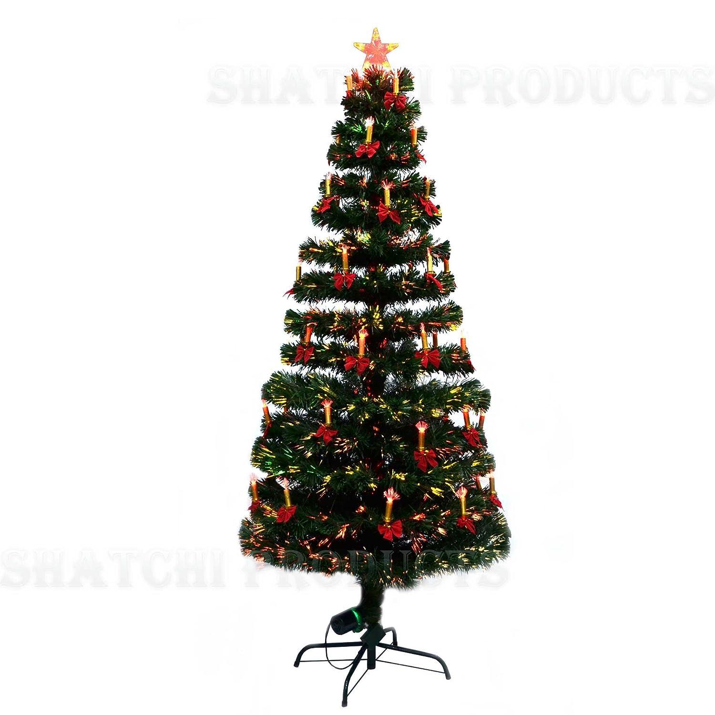 36 Inch 3Ft Christmas Tree Fiber Optic Pre Lit Xmas Tree