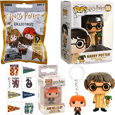 Study Herbology with Earmuffs Pop! Figure Vinyl Bundled with ...