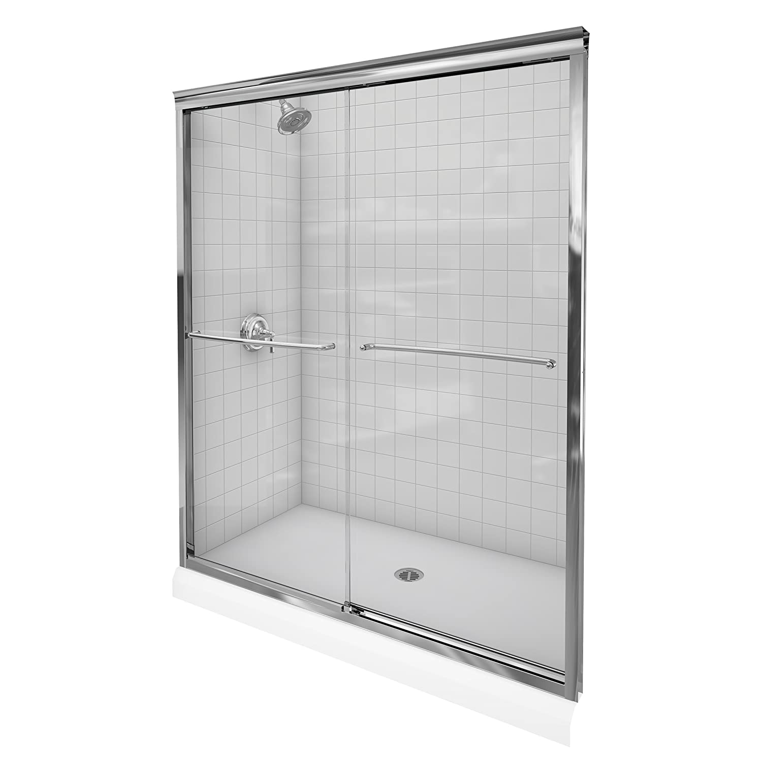 Kohler k 702207 l shp fluence 38 inch thick glass bypass shower kohler k 702207 l shp fluence 38 inch thick glass bypass shower door bright polished silver amazon vtopaller Gallery