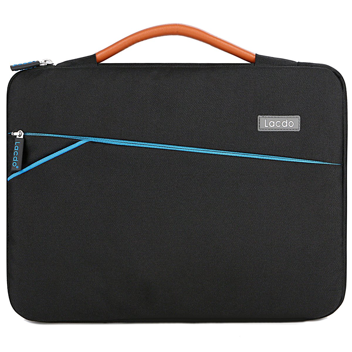 Lacdo 360° Protective Laptop Sleeve Case Briefcase for 13-13.3 Inch Apple MacBook Air | MacBook Pro Retina 2012-2015 | Surface Book | 12.9 Inch iPad Pro, Dell HP ASUS Acer Chromebook Tablet Bag,Black