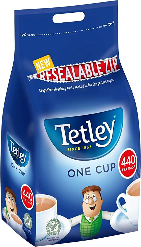 Tetley Tea 1100/'s Teabags NEW Re-sealable bags Bulk Offers