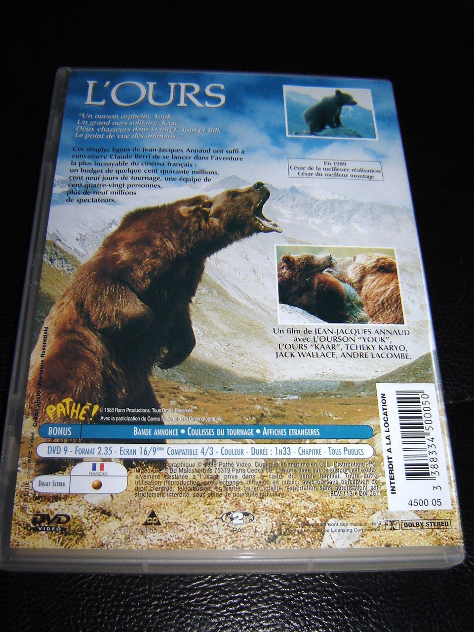 Amazon.com: The Bear (1988) / LOURS: Tcheky Karyo, Jack Wallace, Bart the Bear, Jean-Jacques Annaud: Movies & TV