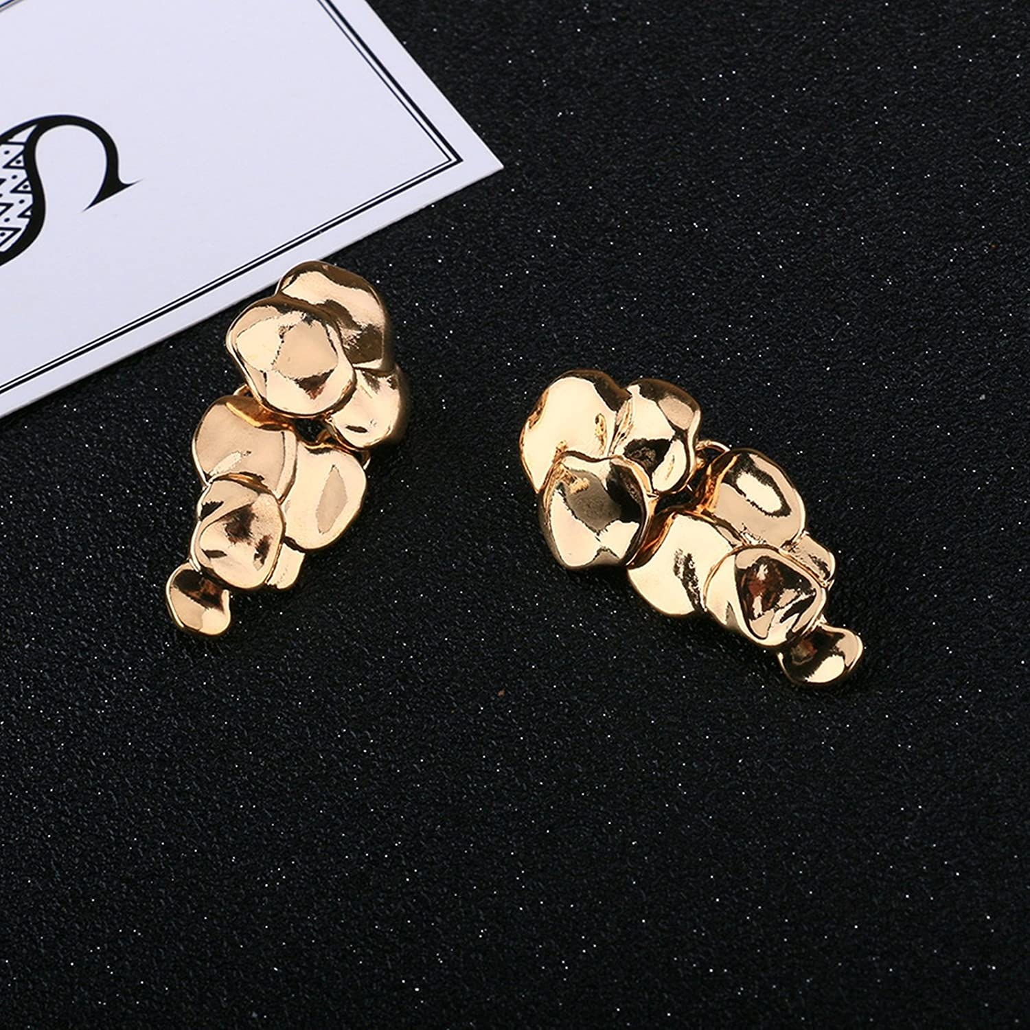 Bishilin Gold Plated Womens Earrings Grape Party Wedding Earrings Gold