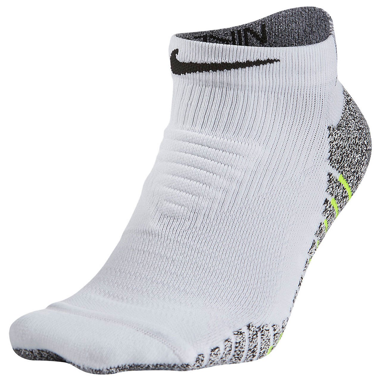White,Black SX5751-100 Fits Men 6-8, Wmn 6-10 Nike Mens Grip Lightweight Low Training Socks Medium