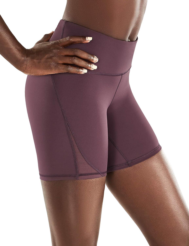 Amazon Com Crz Yoga Women S Naked Feeling High Waisted Biker Shorts Tummy Control Sports Workout Yoga Shorts 6 Inches Clothing
