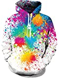uideazone Unisex 3D Fleece Hoodie Cool Pullover Long Sleeve Hooded Sweatshirts with Big Pockets