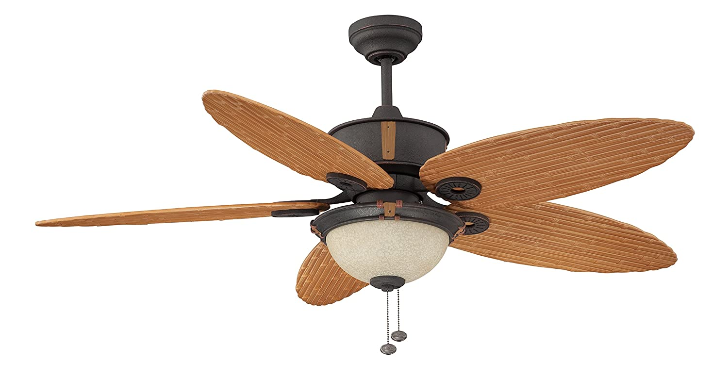 Litex e eh52non5c1s earhart collection 52 inch indooroutdoor litex e eh52non5c1s earhart collection 52 inch indooroutdoor ceiling fan with five bamboo abs blades and single light kit with scavo glass ceiling fans mozeypictures Gallery
