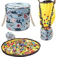 Bolsa de juguete, Bolsa de Juguete con Tapete de Juego para niños Bolsa Organizadora Portátil con Tapete de Juego con…
