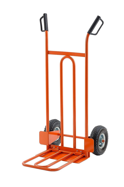 Gierre GE040 Handwagen, Lufträder, einklappbares Auflager, Stahl, Tragkraft 250kg