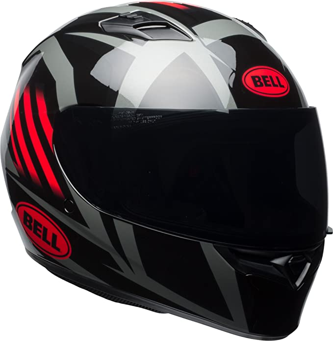 Amazon.com: Bell Qualifier Full-Face Motorcycle Helmet (Gloss Black/Red/Titanium Blaze, Large): Automotive
