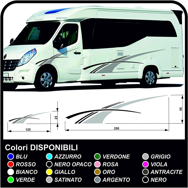 Aufkleber Für Wohnmobile Graphics Vinyl Aufkleber Aufkleber Set Camper Van Rv Caravan Wohnmobil Grafik 19 Farben Wie In Fotos Auto